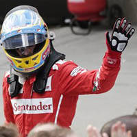 Alonso records Ferrari's first podium of the season