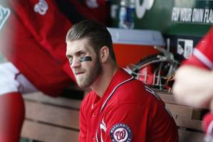 Bryce Harper pulled from Nationals' loss due to 'lack of hustle'